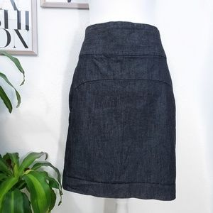 Gap Dark Wash Denim Pencil Skirt
